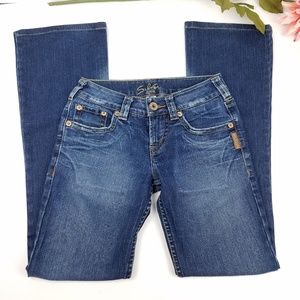Silver Jeans pioneer flare medium wash jeans